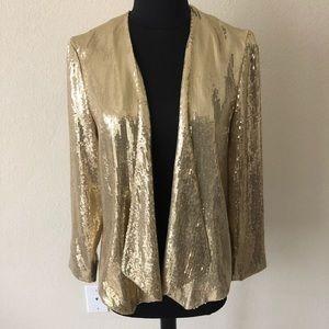 Brand New Gold sequin blazer by H&M